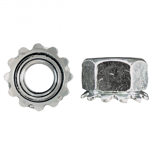 """3/8""""-16 18.8 Stainless Steel Keps Nut"""