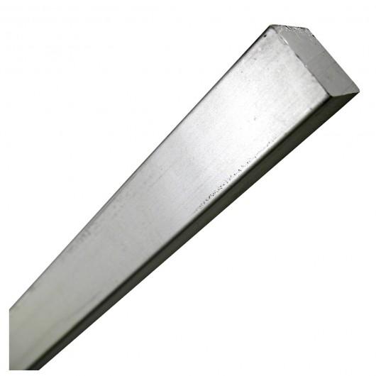 "1/2"" x 1' Steel Square Rod Zinc Plated"
