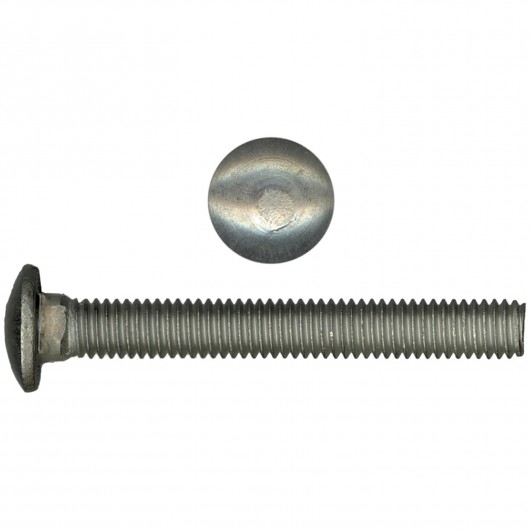 """3/8""""- x 2 1/2"""" 18.8 Stainless Steel Carriage Bolt-UNC"""