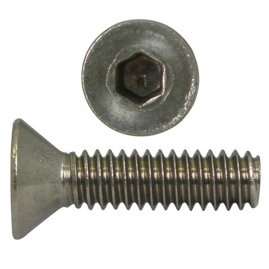 "3/8""-16 x 1"" 18.8 Stainless Steel Flat Head Cap Screw-UNC"