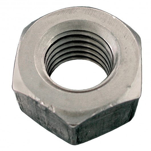 """5/16""""-18 18.8 Stainless Steel Heavy Semi-Finished Hex Nut-UNC"""