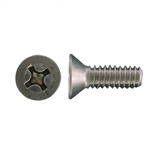 "6-32 x 1 1/4"" 18.8 Stainless Steel Flat Head Phillips Machine Screw"