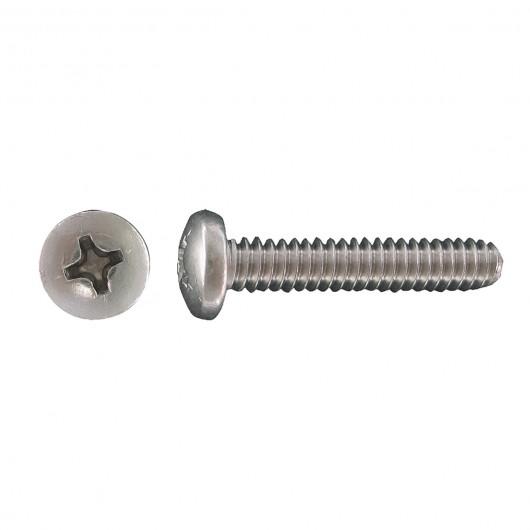 "1/4""-20 x 2"" 18.8 Stainless Steel Pan Head Phillips Machine Screw"
