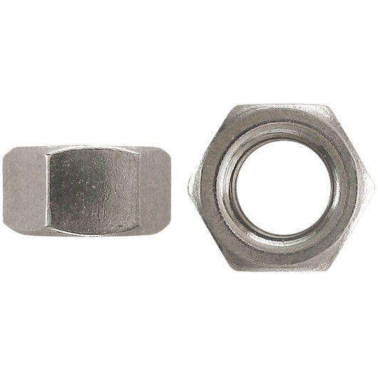 """1/2""""-13 18.8 Stainless Steel Finished Hex Nut-UNC"""