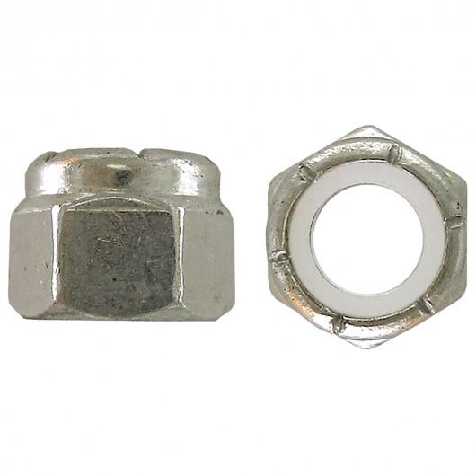 """5/8""""-18 18.8 Stainless Steel Nylon Insert Stop Nut-UNF"""